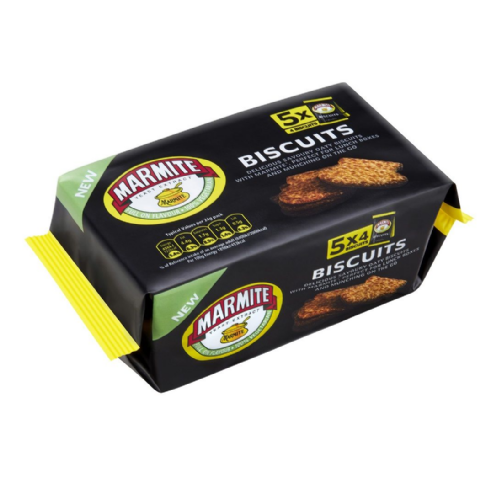 Marmite Biscuits Savoury Snack Packs Dorset Village Bakery 120g